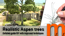 Model realistic Aspen trees for H0-scale