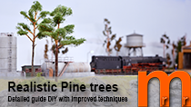 How-to model realistic Pine trees using steel wire trunk and coffie grounds