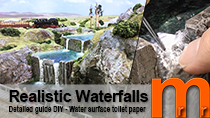 How to create realistic waterfalls and water surface using toilet paper