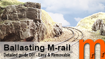 Tutorial how-to make a realistic ballasting of tracks with integrated roadbed, such as Bachmann, Kato, Trix, Roco Geoline or Märklin M-track or C-track.