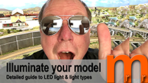 How to set up the light over your model railroad, diorama or Miniature terrain to get the best appearence